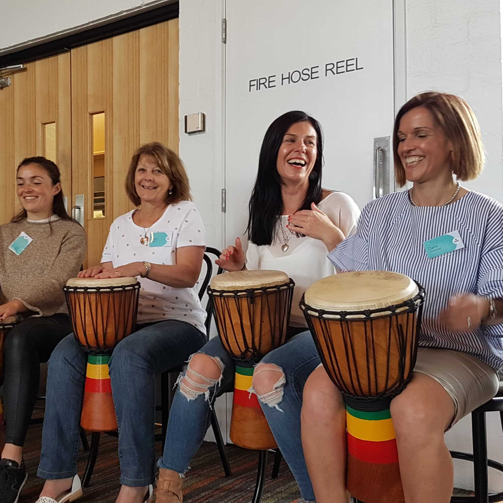 Staff Team Building Drumming