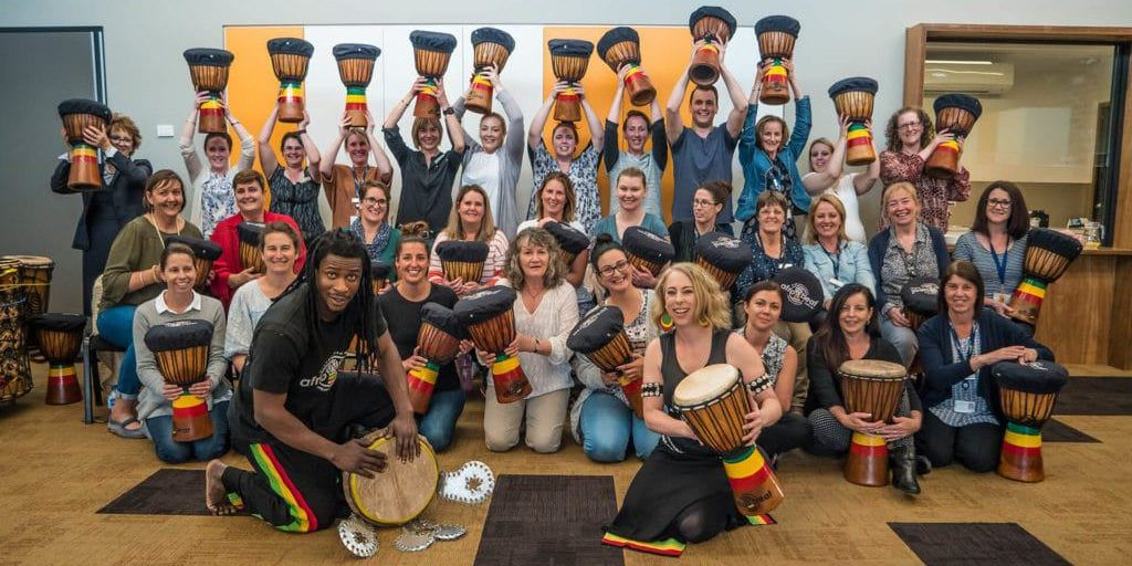 Afrobeat Team Building Drumming